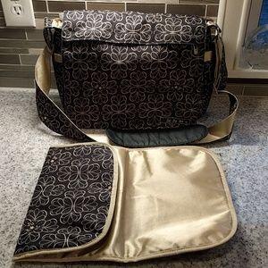 Ju Ju Be diaper bag with changing pad